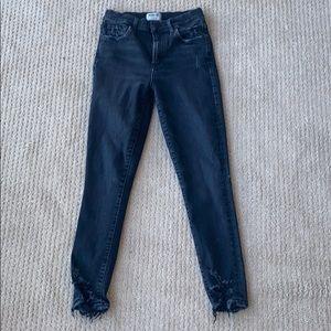 AGOLDE Sophie Crop in Black. Size 27.